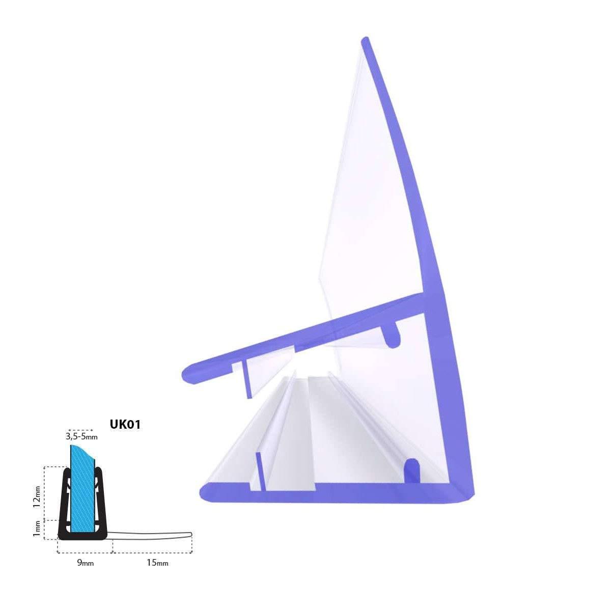 Glasst/ärke 3,5//4// 5 mm STEIGNER Duschdichtung UK01 Gerade PVC Ersatzdichtung f/ür Dusche 70cm