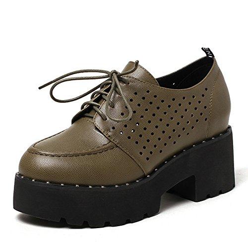 Ronda zapatos de plataforma de plataforma del cabezal en la primavera/relajación profunda/Zapatos con cordones Casualesesese C