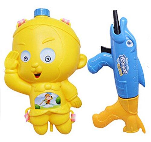PANDA SUPERSTORE Fashional Squirt Guns Children's Toys Backpack Water Gun Far Shot Yellow ()