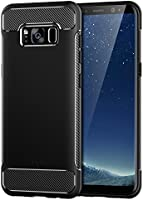 Funda Galaxy S8, JETech super Fundaprotectora con Tope Shock- Absorción y Diseño de fibra de carbon para Samsung Galaxy S8 (Negro) - 3454