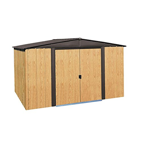 Arrow Woodlake 8 ft. x 10 ft. Steel Storage Shed with Floor Kit