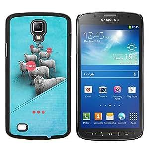 Caucho caso de Shell duro de la cubierta de accesorios de protección BY RAYDREAMMM - Samsung Galaxy S4 Active i9295 - sueño ovejas