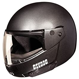 Studds Ninja Pastel Plain Flip Up Full Face Helmet (Gun Grey, XL)