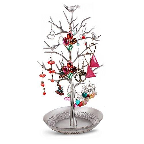 Dazone Birds Tree Jewelry Stand Display