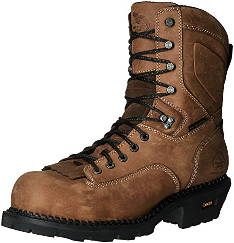 shop for online Georgia Men's GB00098 Mid Calf Boot Brown cheap sale outlet store 43K8hnRS7g