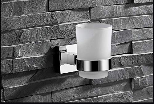 Toothbrush Cup Holder Bathroom Single Cup Holder Stainless Steel Toothbrush Cup Holder Simple Bathroom Mouth Cup - Mirror Contemporary Solution Simple