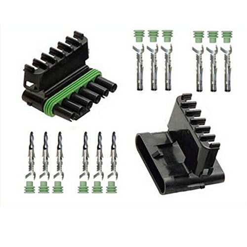 Weather Pack 1 sets Kit 6 Pin Way Waterproof Electrical Wire automotive Connector Plug Ogry