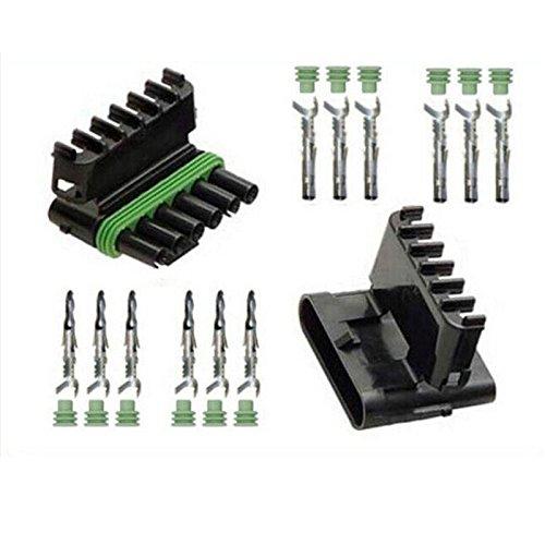 Kaifa Weather Pack Delph 50 Sets Kit 6 Pin Way Waterproof Electrical Wire Automotive Connector Plug Kf00021-50 by kaifa