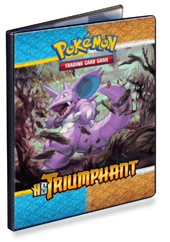 Ultra-Pro 9-Pocket Pokemon Card Binder/Portfolio ft. Nidoking and Mamoswine from Triumphant (Album Holds 90-180 Cards) by Ultra-PRO