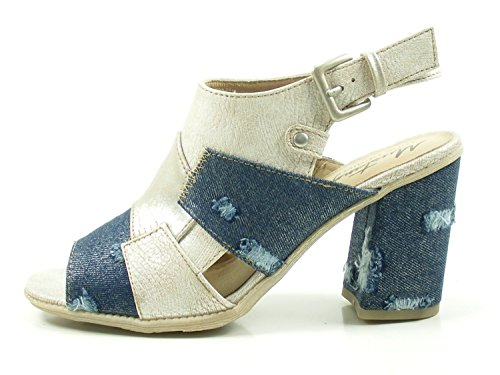 Mustang Toe Women's 1278 Beige Open 2 801 Sandals faT4qwf