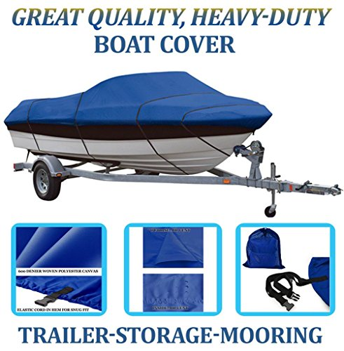 BLUE, GREAT QUALITY BOAT COVER FOR Sea Ray 160 Ski Ray SK (Sea Ray Ski)