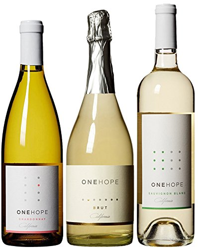 ONEHOPE California White & Sparkling IV Wine Mixed Pack, 3 x 750 mL
