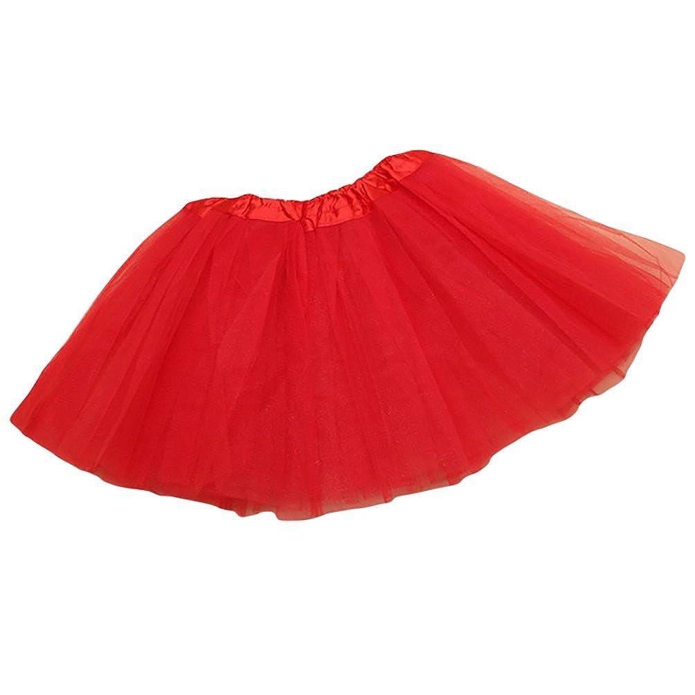 NiSeng Fasching Verkleiden Kinder M/ädchen T/üllrock T/üt/ü Tutu Petticoat Ballettkleid Tanzkleid