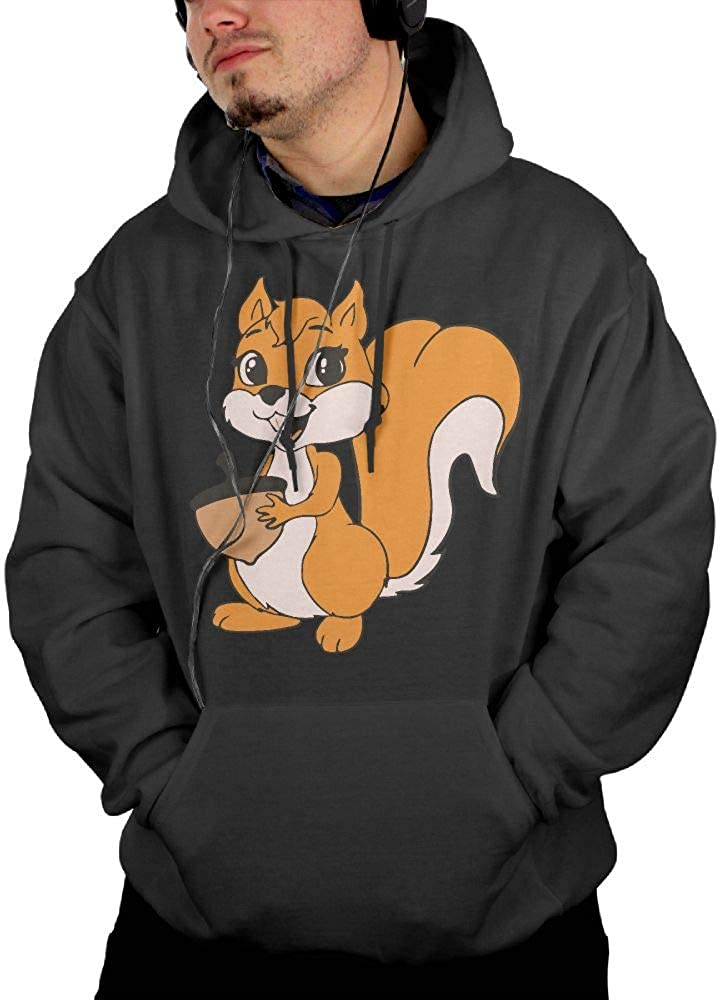 Ou30IL@WY Mens Squirrel Hooded Fleece Casual Cotton Outwear with Pocket for Men