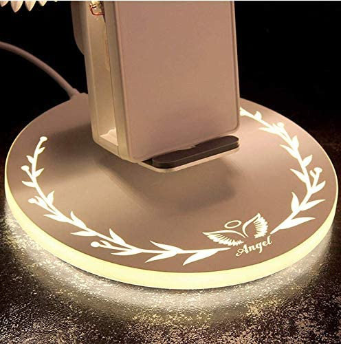 10W Fast Wireless Charger Stand Compatible for iPhone Xs Max//XR//XS//X//8//8 Plus Samsung S10//S10+//S9//S9+//S8//S8+//S7//S7 Edge//S6 Edge Angel Wings Wireless Charger