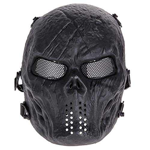 AILIUJUNBING Skull Party Mask Paintball Full Face Mask Games Mesh Eye Shield Mask for Halloween Cosplay Party Decor ()