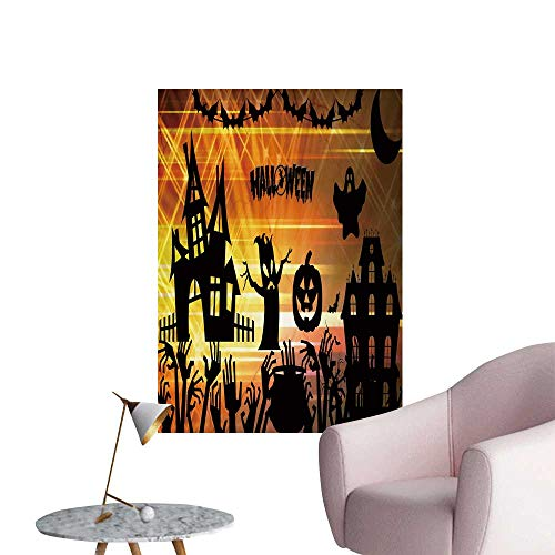 SeptSonne Wall Stickers for Living Room Ultra high Definition Halloween Vinyl Wall Stickers Print,32