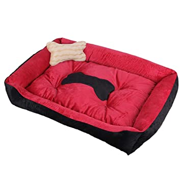 Cama para Mascotas Teddy Kennel Cat Nest Small Medium Large Pet Pad Tela Corta De Terciopelo