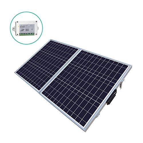 ECO-WORTHY 100 W Watt Portable Kits -100W 2x50W Folding PV Solar Panel 12V RV Boat Off Grid W 15A Charge Controller (Best Solar Panel Kit For Rv)
