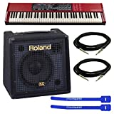 Nord Electro 4 SW73 Keyboard w/ Roland KC-60 Keyboard Amplifier & Instrument Cables & Cable Ties
