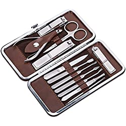 Corewill Nail Clipper Set 12 in 1 Manicure and Pedicure Kit for Fingernail and Toenail with Portable Travel Case, Ideal for Men and Women, Professional Stainless Steel