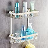 LAONA European style rural white aluminum alloy bathroom fittings, towel bar, toilet paper rack,Basket 2 A