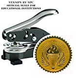 Embosser Bundle // Custom Embosser (Seal) & Premium Gold Foil Embossing Certificate Labels // Official Seal of Excellence; Impression: 1-5/8 [SPC2CS] // Employee/Student Recognition At Work/School