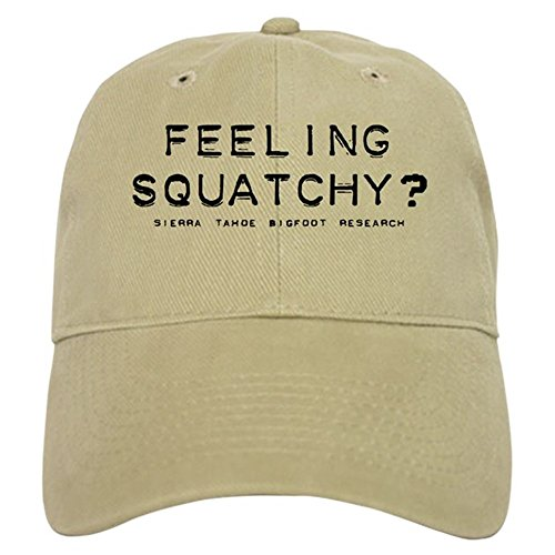 CafePress - FEELING SQUATCHY Cap-Sasquatch Bigfoot - Baseball Cap with Adjustable Closure, Unique Printed Baseball Hat