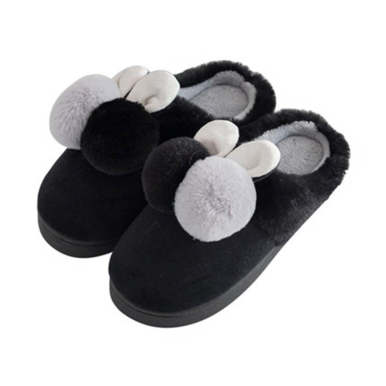 Hausschuhe Reiner Baumwollpantoffel Dicker Winter Home Niedliche Halbbeutel mit Warmen Schuhen (Farbe : Pattern 3, Größe : EUR:40-41)