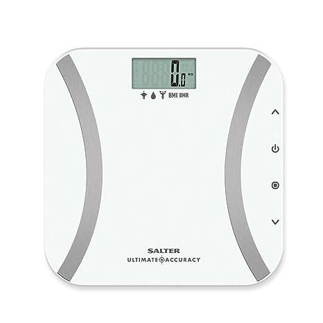 Salter 9173 WH3R Báscula de baño analítica, memoria para 12 usuarios, peso en incrementos
