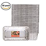 "Party Bargains Loaf Pans | Heavy Duty Durable Quality Disposable Aluminum 2Lb Bread Tins | Perfect for Bakery, Homemade Cakes, Meatloaf & Food Serving - 8.5"" X 4.5"" X 2.5"" 
