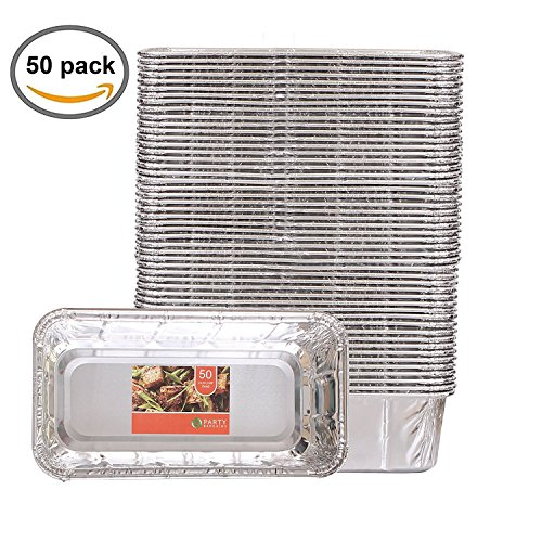 Party Bargains Loaf Pans | Heavy Duty Durable Quality Disposable Aluminum 2Lb Bread Tins | Perfect for Bakery, Homemade Cakes, Meatloaf & Food Serving - 8.5