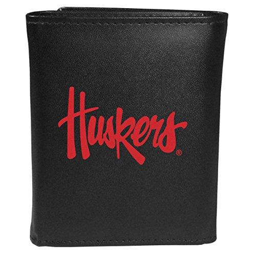 Siskiyou Sports NCAA Nebraska Cornhuskers Tri-fold Wallet Large Logo, Black