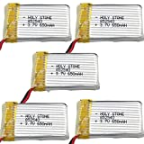 Holy Stone Upgraded Battery for M68 M68(plus) X5C X5 X5C-1(5 pcs) 3.7V 650mAh Lithium Polymer Battery