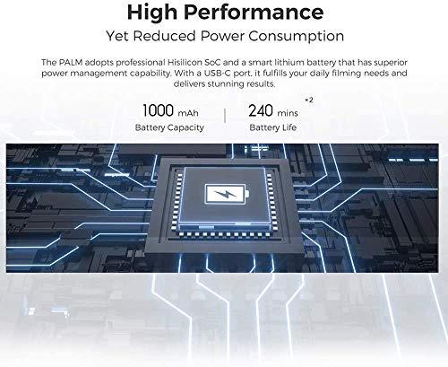 FIMI Palm Stabilizzatore cardanico a 3 assi tascabile con fotocamera intelligente 4K, obiettivo ultra grandangolare 128 °, 120g, microfono incorporato e microfono esterno supportati 7 spesavip