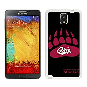 NCAA Big Sky Conference Football Montana Grizzlies 4 White New Recommended Design Samsung Galaxy Note 3 Phone Case