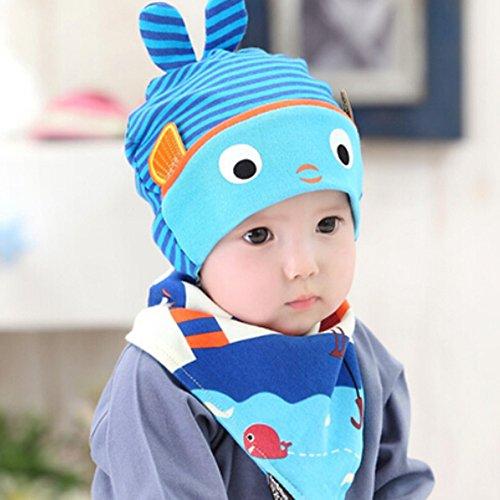 KAKA(TM Babys Girls Boys Lovely Winter Warm Colorful Cute Striped Pattern Hat