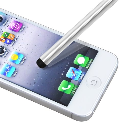 Pack of 2 Silver Universal Touch Screen Stylus Pen for Apple Iphone 1st Gen, 3G 2nd Gen, Ipod Touch