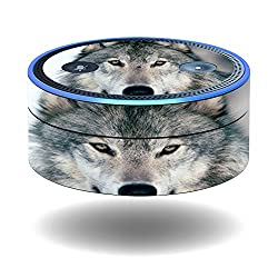 MightySkins Protective Vinyl Skin Decal for Amazon Echo Dot (1st Generation) wrap cover sticker skins Wolf