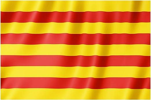 Lixure Bandera de Cataluña 5x3 Días Ventosos 5x3ft (150x90cm) Nylon 210D Durable para Exterior/Interior Bandera Decorativa Resistente a Rayos UVA: Amazon.es: Jardín