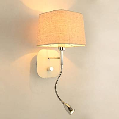 Carl Artbay Led Lampe De Lecture Lampe Murale En Tissu Blanc Simple