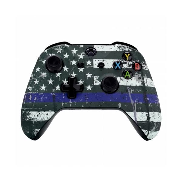 Xbox One Wireless Controller for Microsoft Xbox One - Custom Soft Touch Feel - Custom Xbox One Controller (Blue Line) 1