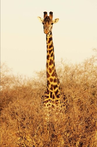 Giraffe in Tsavo East National Park Kenya Africa Wildlife Journal: 150 Page Lined Notebook/Diary
