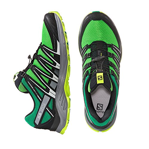 Salomon Xa Lite, Zapatillas de Trail Running para Hombre Verde (Classic Green/Black/Lime Green)