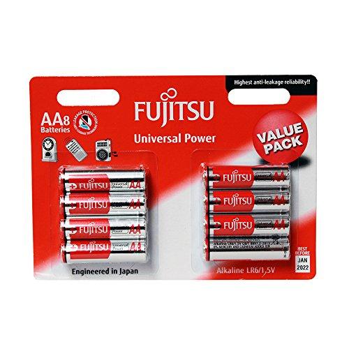 Fujitsu fb94990–Pack of 8Alkaline Batteries Universal Power (LR6Fu, Size AA)