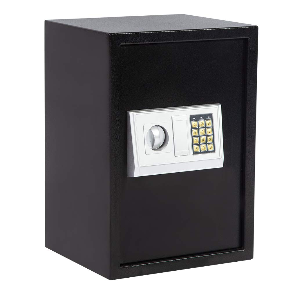Electronic Safe Box Lock Box Safes and Lock Boxes Combination Security Cabinet Digital Safe Box with Two Keys Keypad and Safe 1.8 CF Large for Office Home Hotel Gun Jewelry Money Safe BestMassage