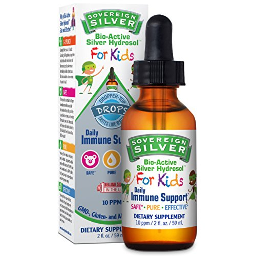Sovereign Silver Bio-Active Silver Hydrosol for Kids Daily Immune Support - 2 oz Dropper by Sovereign Silver