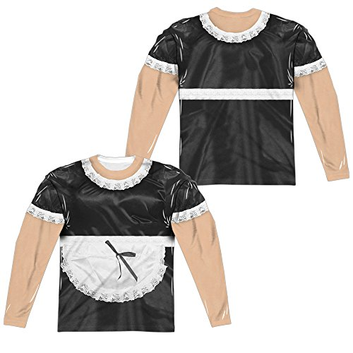 A&E Designs French Maid Halloween Costume Long Sleeve T-Shirt Front & Back, 3XL Multicolored]()