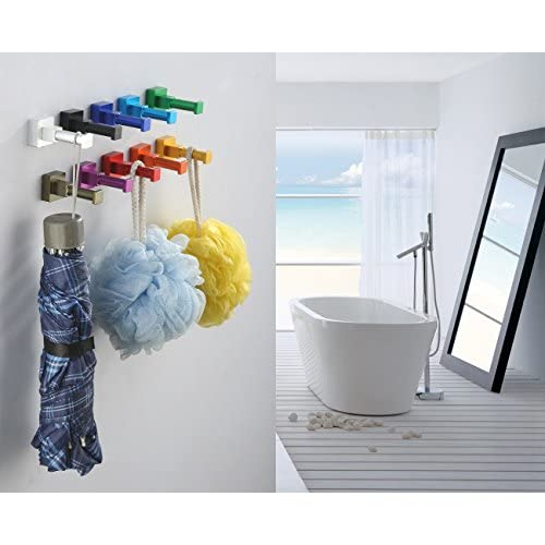 APL F04 Color Single Square Shape Robe Hook Coat Hook Wall Hook, Colorful Hanging Organizer, Black best