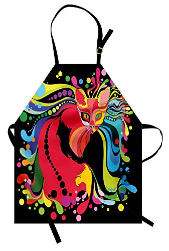 Futuristic Costumes Images - Ambesonne Psychedelic Apron, Futuristic Kitty Visual